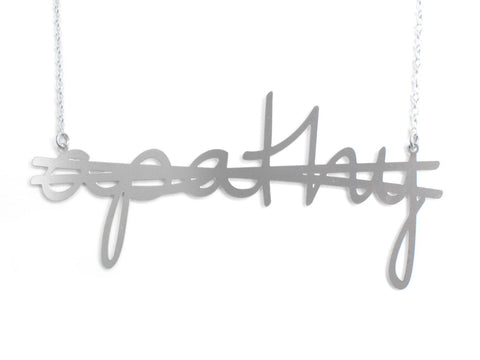 Crossout Apathy Necklace - Brevity Jewelry - Made in USA - Affordable Gold and Silver Jewelry