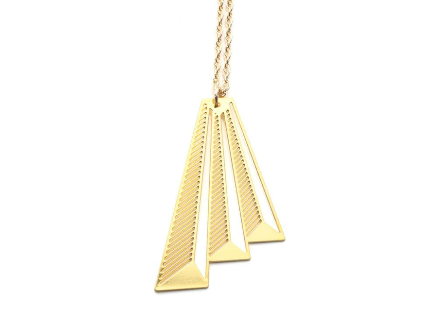 Audrey Necklace - Brevity Jewelry - Made in USA - Affordable Gold and Silver Jewelry