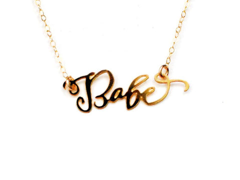 Babe Necklace - Brevity Jewelry - Made in USA - Affordable Gold and Silver Jewelry
