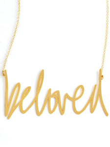 Beloved Necklace - Brevity Jewelry - Made in USA - Affordable Gold and Silver Jewelry
