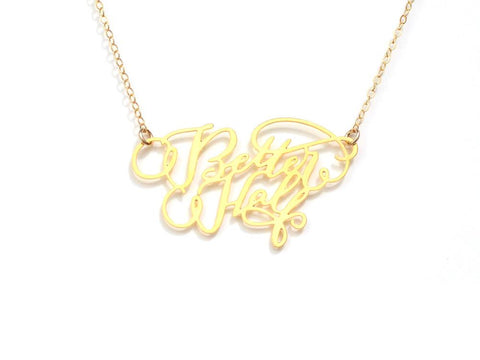 Better Half Necklace - Brevity Jewelry - Made in USA - Affordable Gold and Silver Jewelry