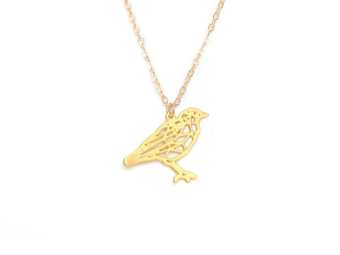 Bird Necklace - Brevity Jewelry - Made in USA - Affordable Gold and Silver Jewelry
