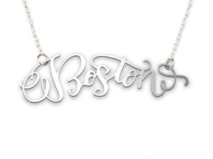 Boston Necklace - Brevity Jewelry - Made in USA - Affordable Gold and Silver Jewelry