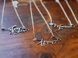 Calligraphy Necklace - One Name