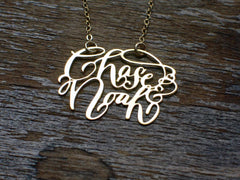 Calligraphy Necklace - Two Names Necklace - Brevity Jewelry - Made in USA - Affordable Gold and Silver Jewelry