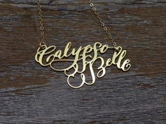 Calligraphy Necklace - Two Names