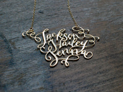 Calligraphy Necklace - Three Names