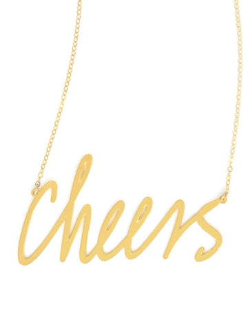 Cheers Necklace - Brevity Jewelry - Made in USA - Affordable Gold and Silver Jewelry