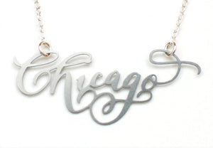 Chicago Necklace - Brevity Jewelry - Made in USA - Affordable Gold and Silver Jewelry