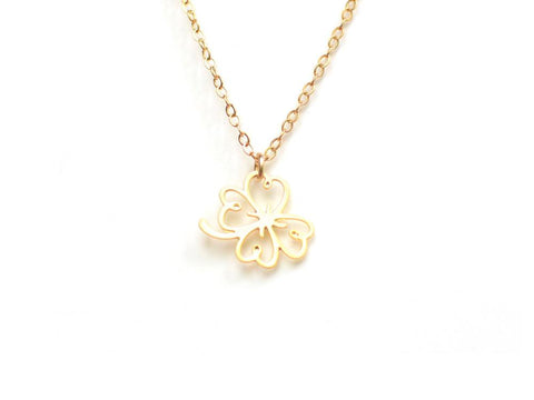 Clover Necklace - Brevity Jewelry - Made in USA - Affordable Gold and Silver Jewelry