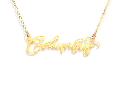 Columbus Necklace - Brevity Jewelry - Made in USA - Affordable Gold and Silver Jewelry