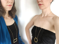 Isosceles Trapezoid - Small {{ product.type }} - Brevity Jewelry - Made in USA - Affordable gold and silver necklaces