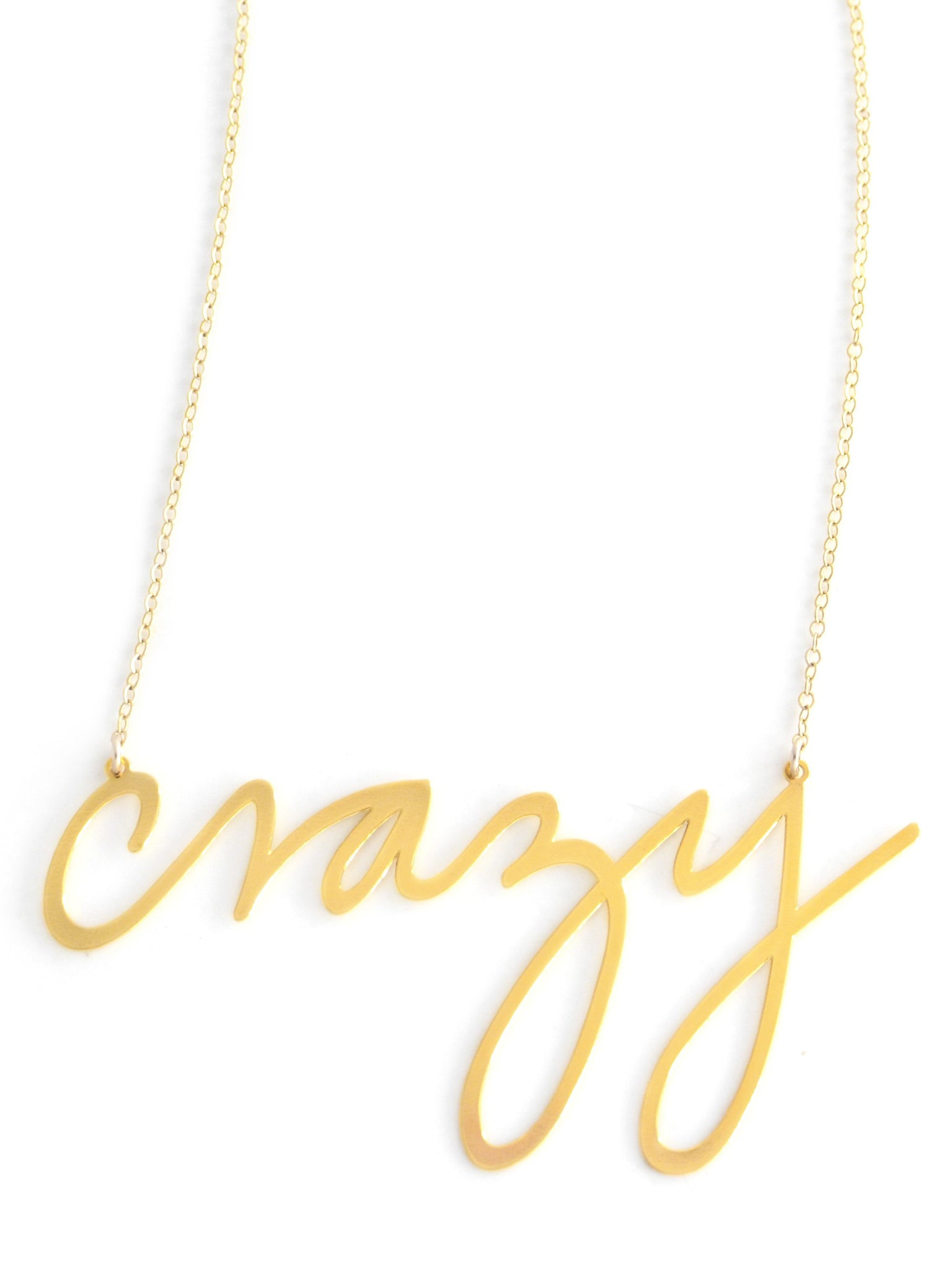 Crazy Necklace - Brevity Jewelry - Made in USA - Affordable Gold and Silver Jewelry