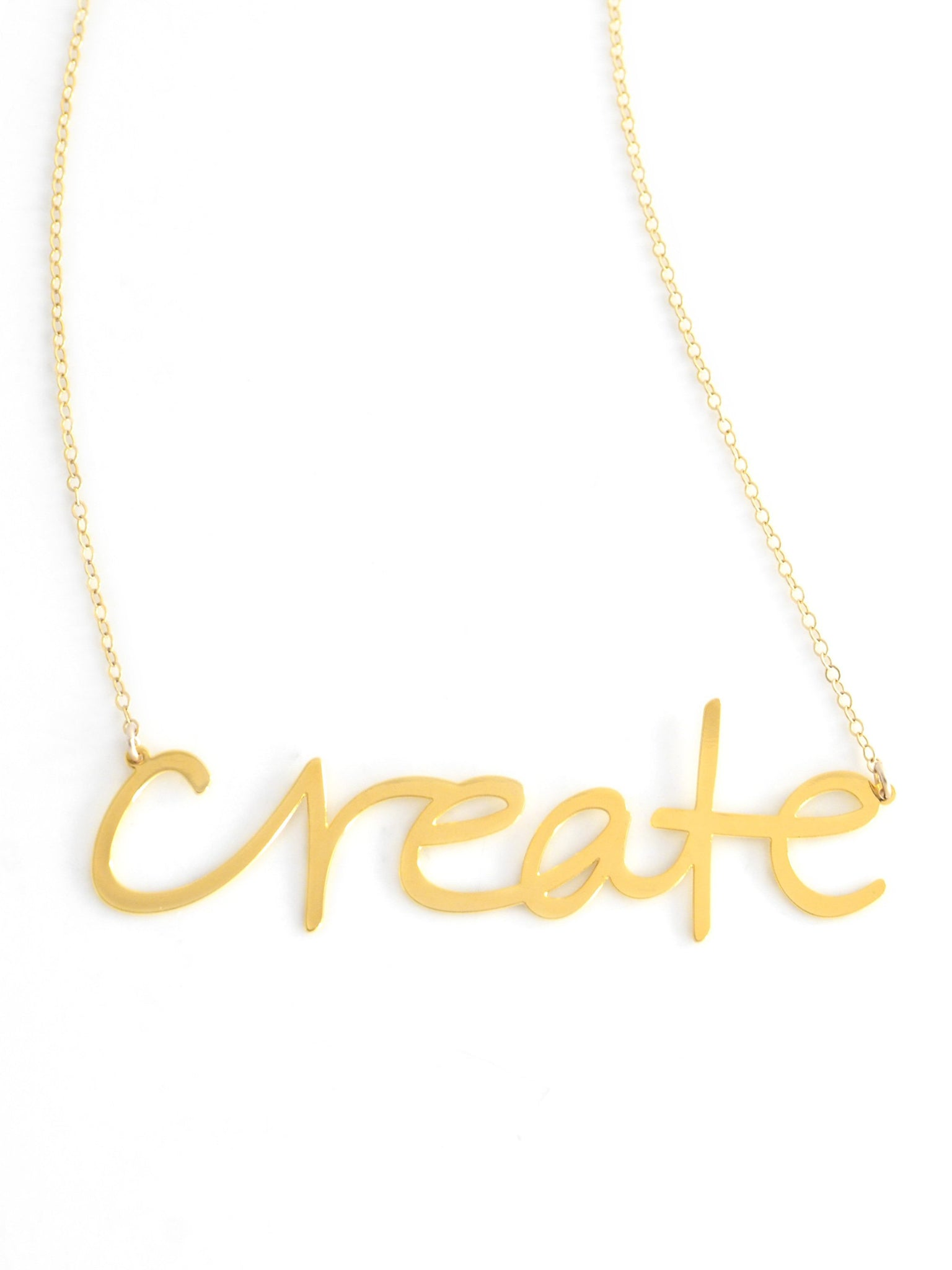 Create Necklace - Brevity Jewelry - Made in USA - Affordable Gold and Silver Jewelry