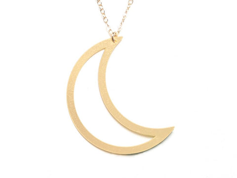 Crescent - Large {{ product.type }} - Brevity Jewelry - Made in USA - Affordable gold and silver necklaces
