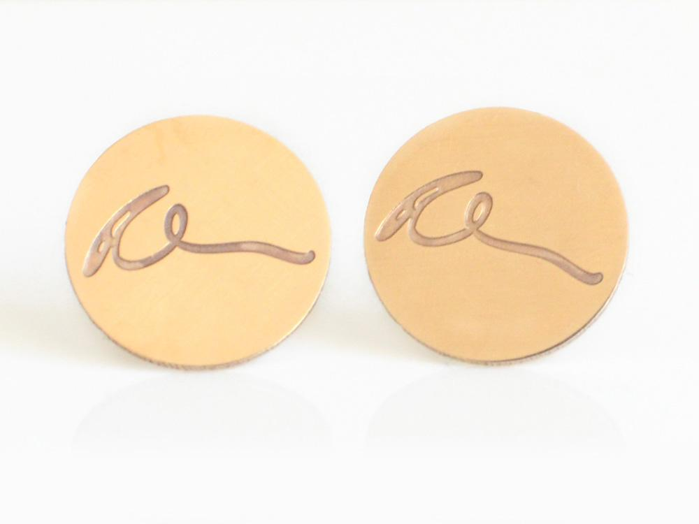 Signature Cufflinks - Brevity Jewelry - Made in USA - Affordable Gold and Silver Jewelry