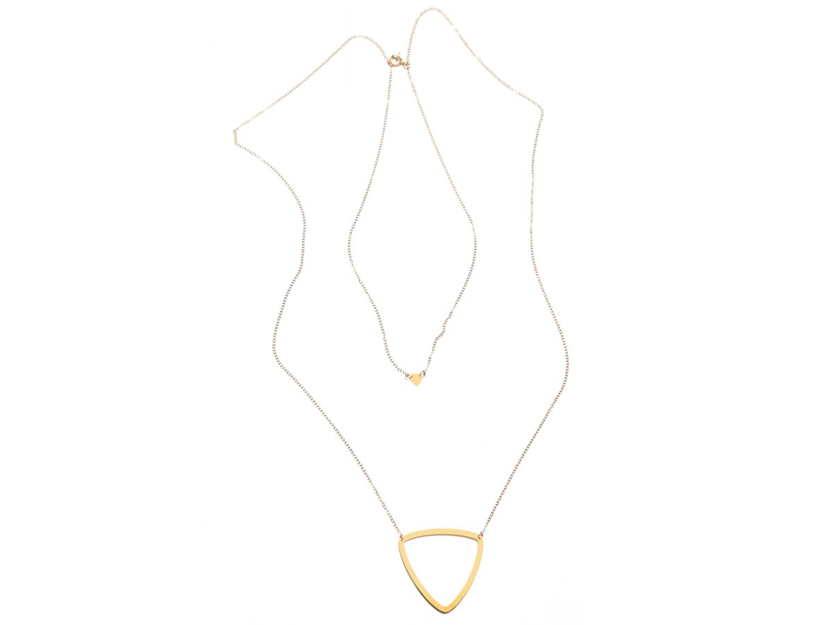 Curvilinear Triangle - Pair Necklace - Brevity Jewelry - Made in USA - Affordable Gold and Silver Jewelry