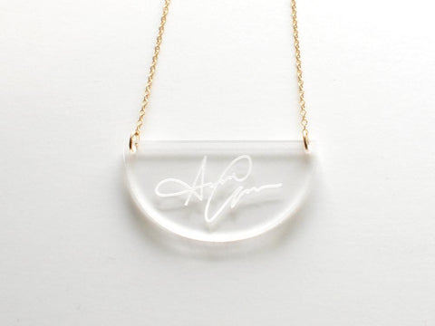 Acrylic Demi Signature Necklace