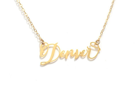 Denver Necklace - Brevity Jewelry - Made in USA - Affordable Gold and Silver Jewelry