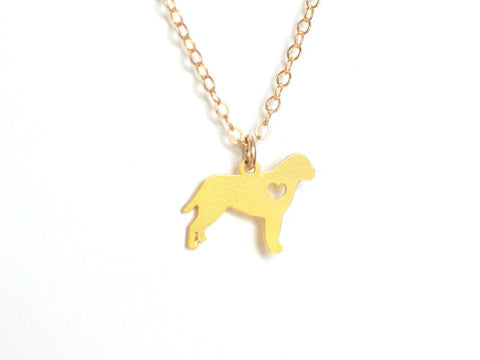 Dog Love Necklace - Brevity Jewelry - Made in USA - Affordable Gold and Silver Jewelry