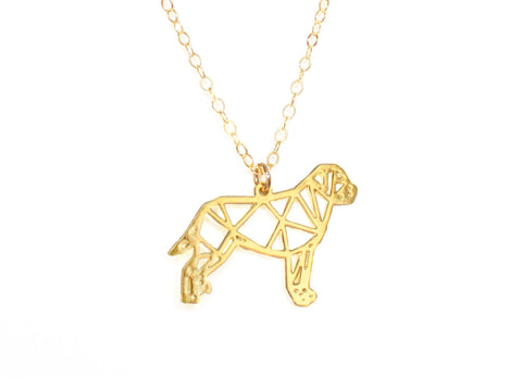 Dog Necklace - Brevity Jewelry - Made in USA - Affordable Gold and Silver Jewelry