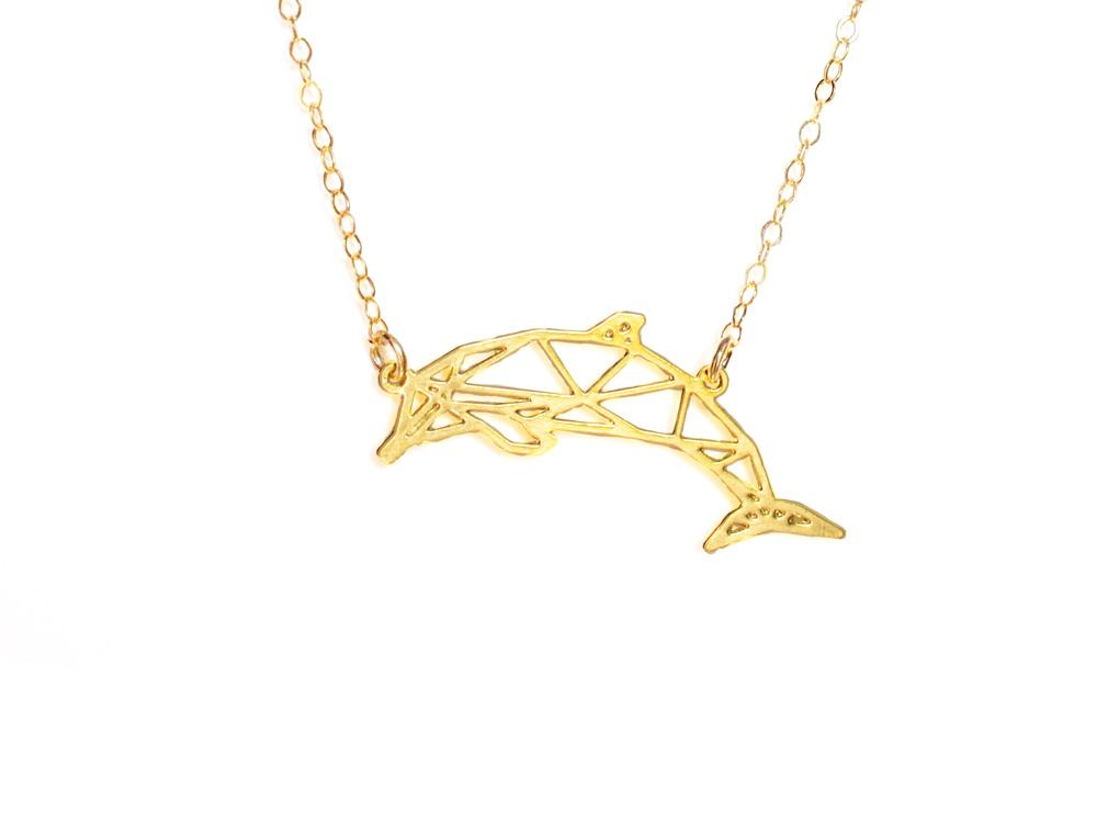 Dolphin Necklace - Brevity Jewelry - Made in USA - Affordable Gold and Silver Jewelry