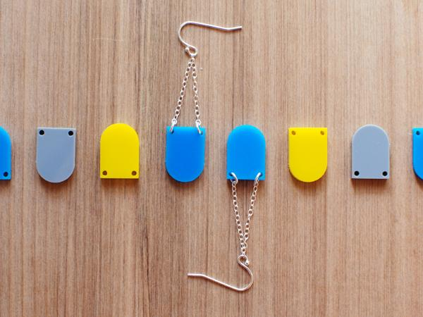 Drop Earrings Necklace - Brevity Jewelry - Made in USA - Affordable Gold and Silver Jewelry