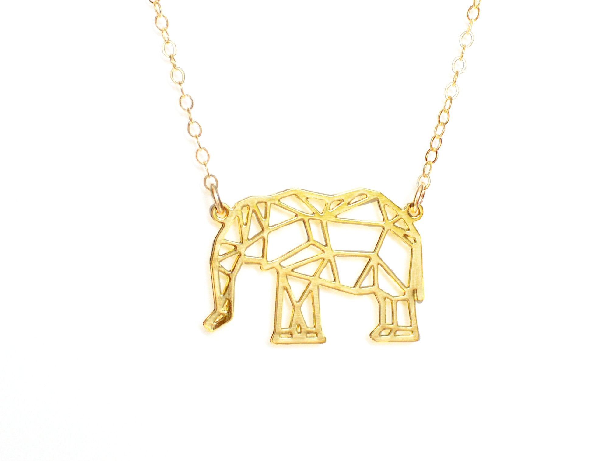 Elephant Necklace - Brevity Jewelry - Made in USA - Affordable Gold and Silver Jewelry