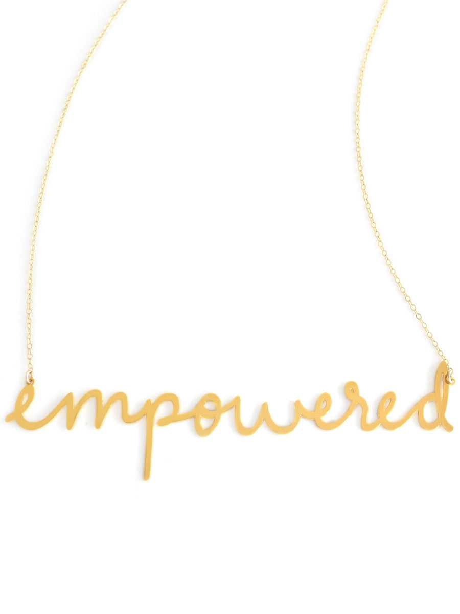 Empowered Necklace - Brevity Jewelry - Made in USA - Affordable Gold and Silver Jewelry