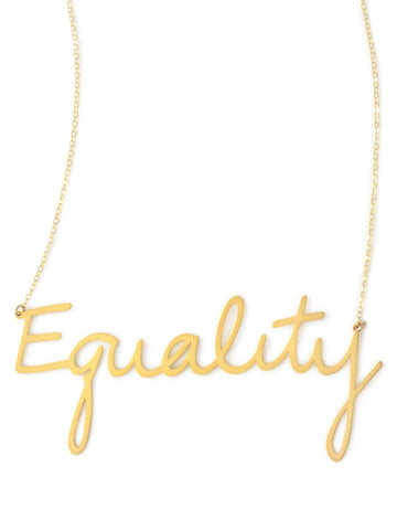 Equality Necklace - Brevity Jewelry - Made in USA - Affordable Gold and Silver Jewelry