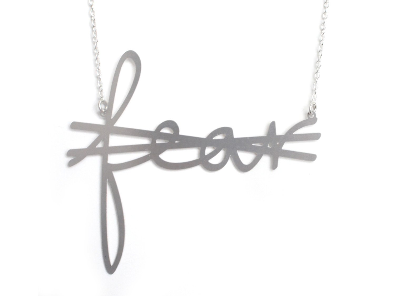 Crossout Fear - XX {{ product.type }} - Brevity Jewelry - Made in USA - Affordable gold and silver necklaces