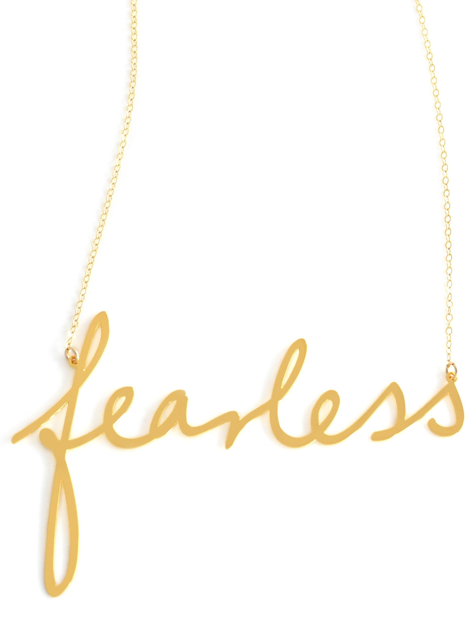 Fearless Necklace - Brevity Jewelry - Made in USA - Affordable Gold and Silver Jewelry