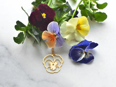 February Birth Flower Necklace - Violet