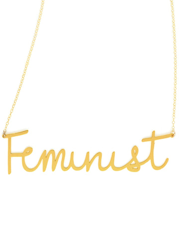 Feminist Necklace - Brevity Jewelry - Made in USA - Affordable Gold and Silver Jewelry