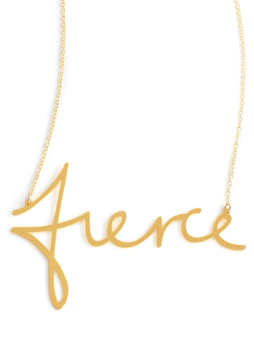 Fierce Necklace - Brevity Jewelry - Made in USA - Affordable Gold and Silver Jewelry