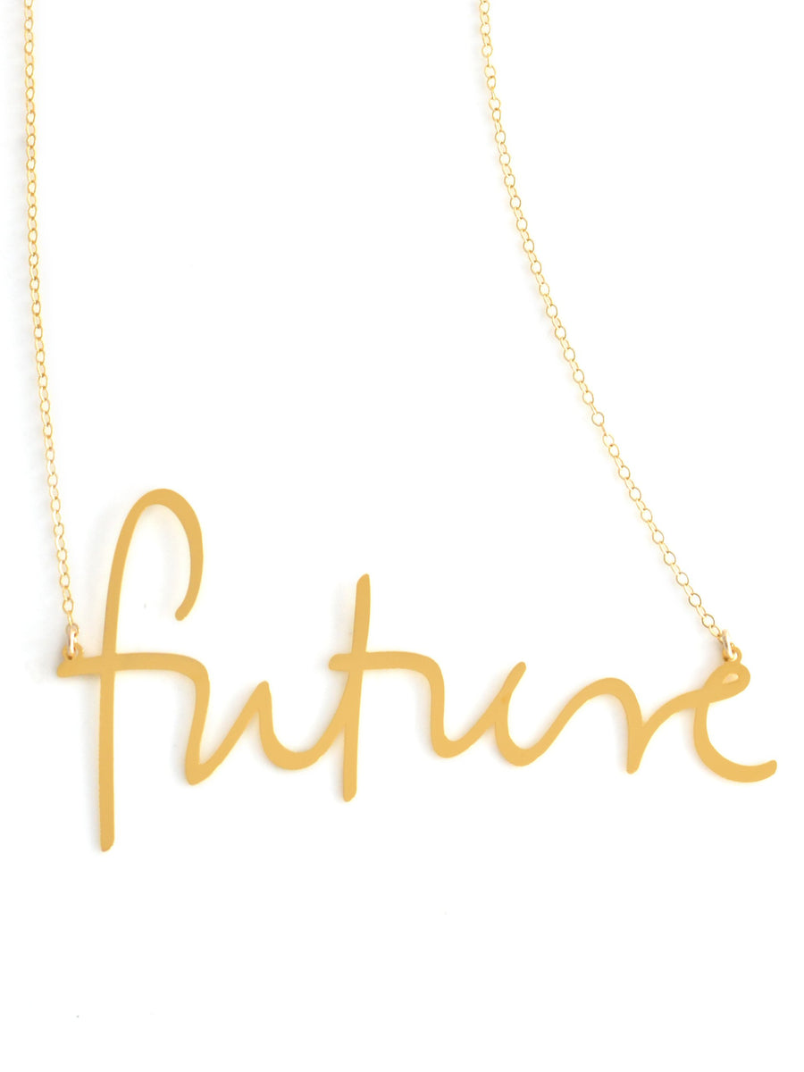 Future Necklace - Brevity Jewelry - Made in USA - Affordable Gold and Silver Jewelry