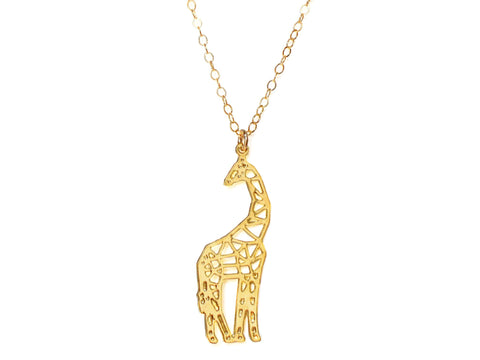 Giraffe Necklace - Brevity Jewelry - Made in USA - Affordable Gold and Silver Jewelry