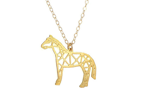 Horse Necklace - Brevity Jewelry - Made in USA - Affordable Gold and Silver Jewelry