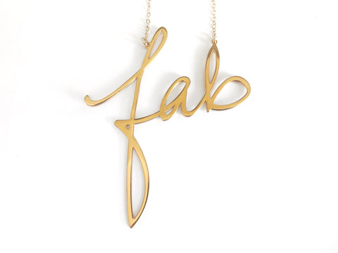 Fab - Large Necklace - Brevity Jewelry - Made in USA - Affordable Gold and Silver Jewelry