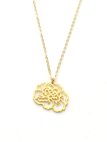 January Birth Flower Necklace - Carnation