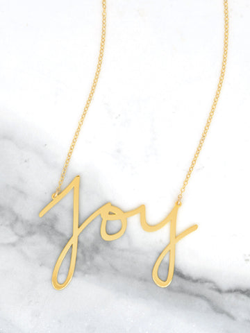 Joy Necklace - Brevity Jewelry - Made in USA - Affordable Gold and Silver Jewelry