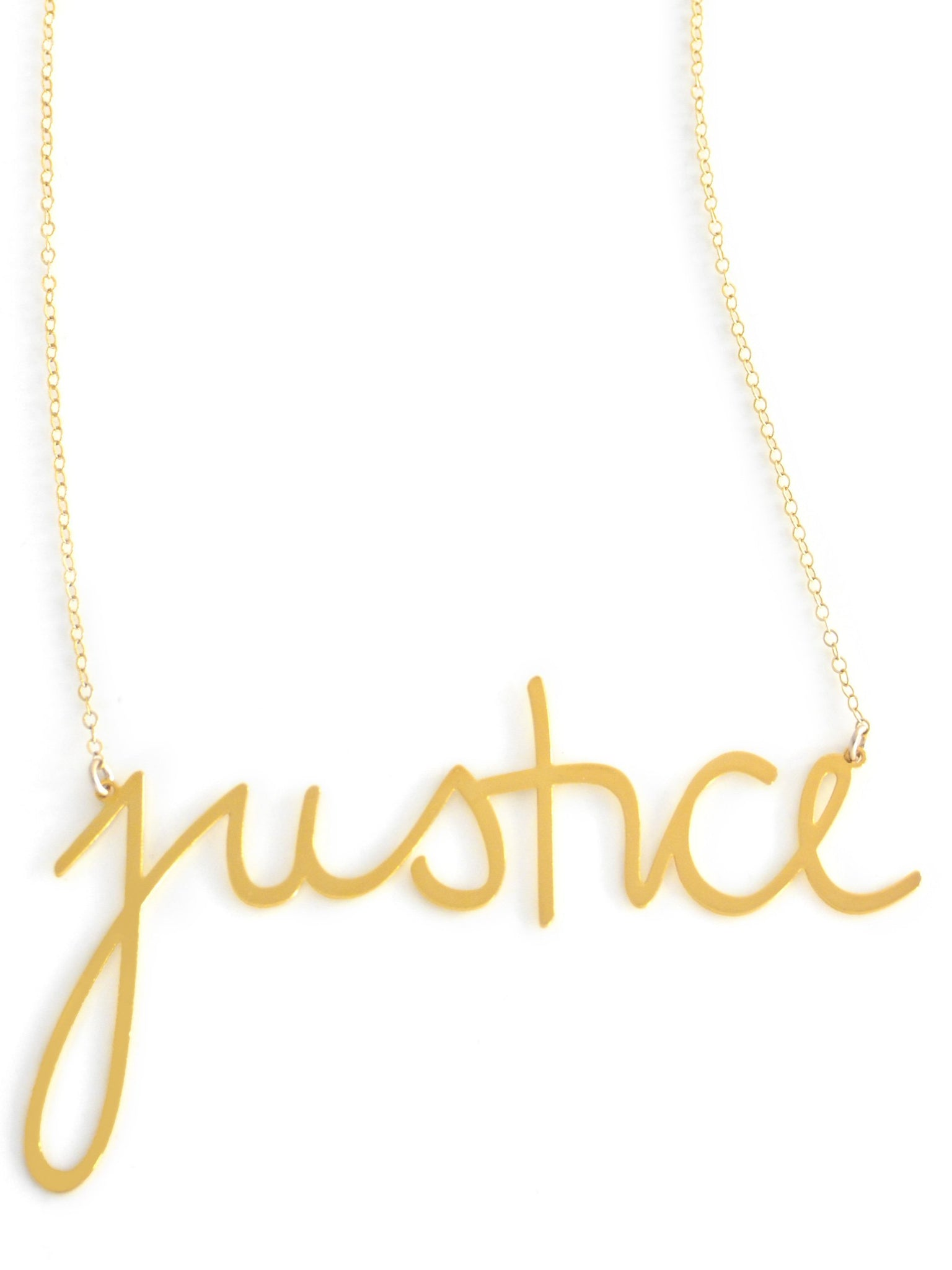 Justice Necklace - Brevity Jewelry - Made in USA - Affordable Gold and Silver Jewelry