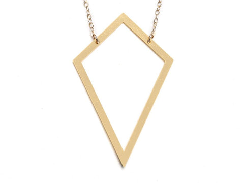 Kite - Large Necklace - Brevity Jewelry - Made in USA - Affordable Gold and Silver Jewelry