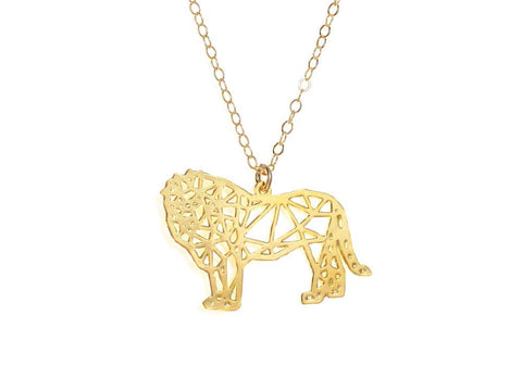 Lion Necklace - Brevity Jewelry - Made in USA - Affordable Gold and Silver Jewelry