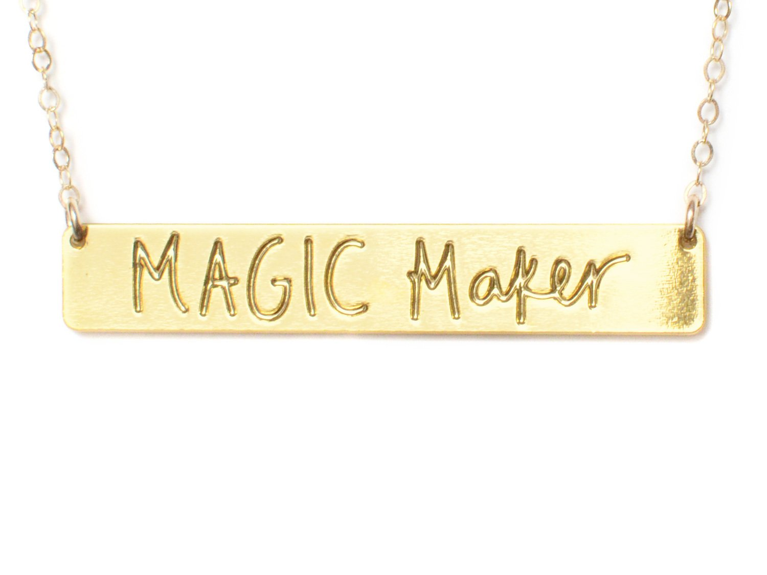 Magic Maker Necklace - Brevity Jewelry - Made in USA - Affordable Gold and Silver Jewelry