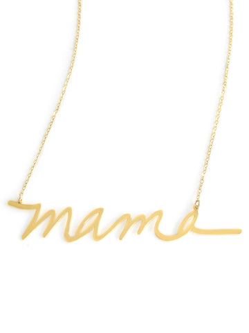 Mama Necklace - Brevity Jewelry - Made in USA - Affordable Gold and Silver Jewelry
