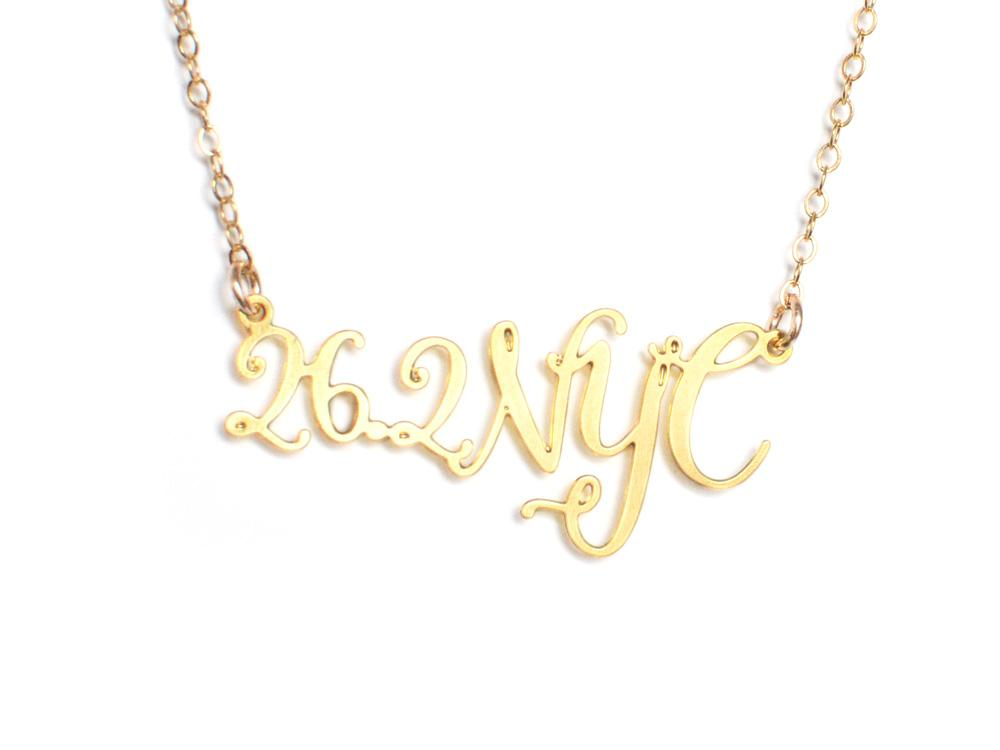 26.2 NYC Marathon Necklace - Brevity Jewelry - Made in USA - Affordable Gold and Silver Jewelry