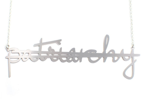 Crossout Patriarchy Necklace - Brevity Jewelry - Made in USA - Affordable Gold and Silver Jewelry