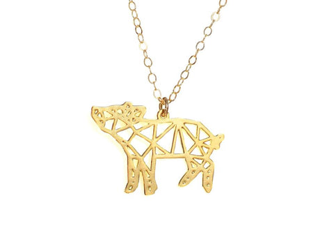 Pig Necklace - Brevity Jewelry - Made in USA - Affordable Gold and Silver Jewelry
