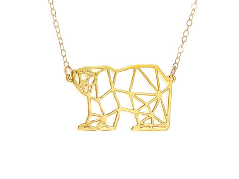 Polar Bear Necklace - Brevity Jewelry - Made in USA - Affordable Gold and Silver Jewelry